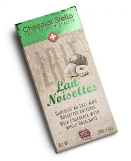 """Chocolat Stella """" Lait Noisettes"""" Premium"""