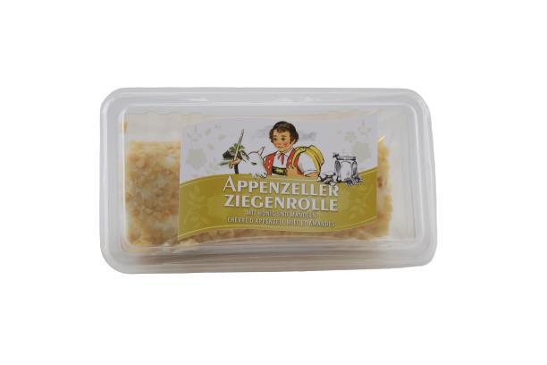 Ziegen-Frischkäserolle mit Honig und Mandeln