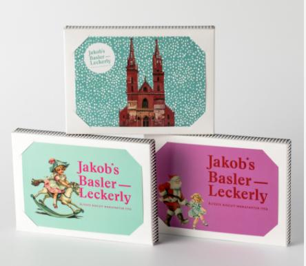 Jakob's Basler Leckery - Postkartenbox 150g