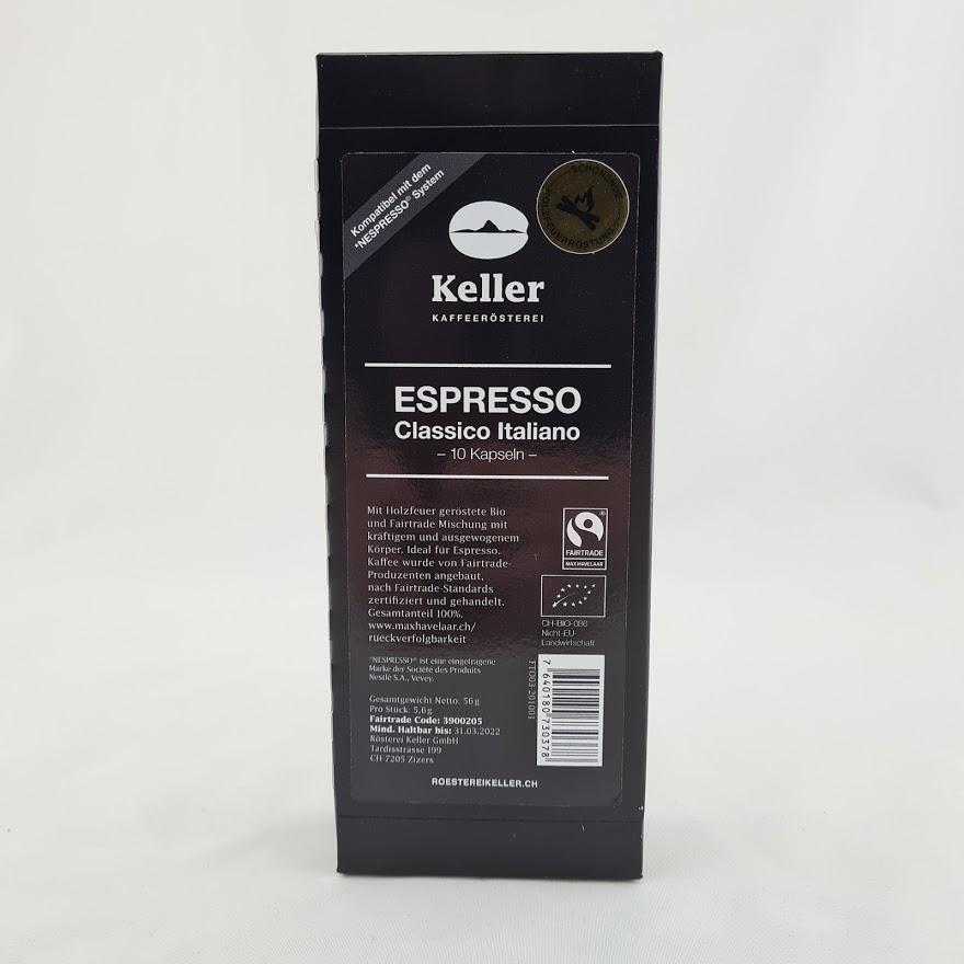 Espresso Classico Italiano -10 Kapseln-  BIO