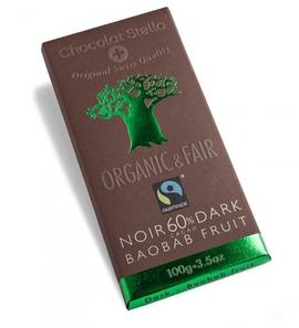 """Chocolat Stella """"60% Dark - Baobab fruit"""" Organic & Fair Trade"""
