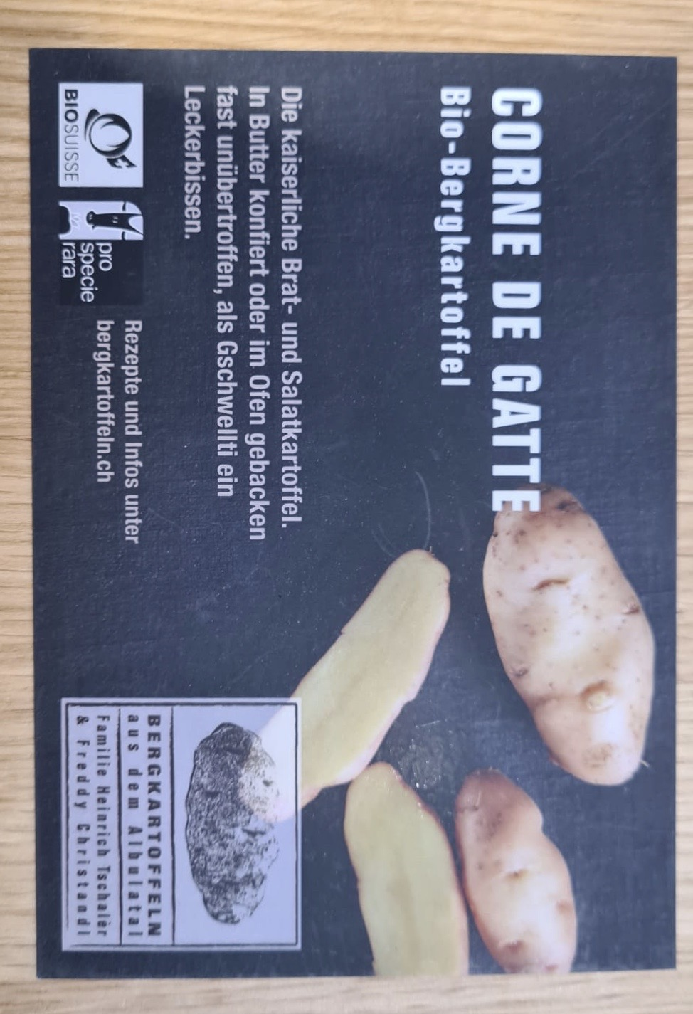 Bergkartoffeln Corne de Gatte