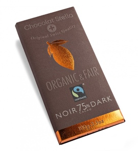 "Chocolat Stella ""75% Dark"" Organic & Fair Trade"